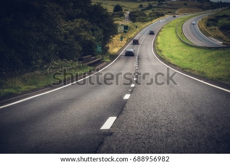 A30 dual carriage new section bodmin bypass cornwall england uk motorway.