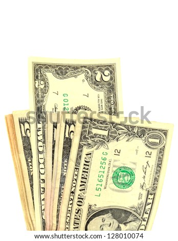 A earning income, with two dollar bill