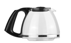 a empty coffee pot isolated against a white background - clipping path