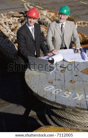 A engineering team on survey