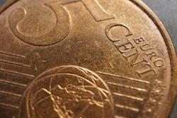 A 5 Euro Cent macro shot. five cent