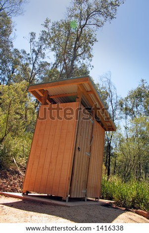 A fair dinkum outback Australian dunny in a forest reserve. A dunny is a toilet for those who don't know.