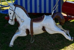 A fair ground attraction, the merry-go-round horse