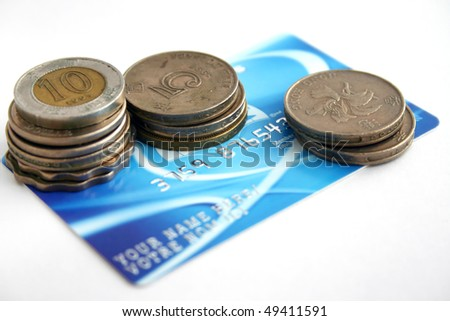 A fake creditcard with coin