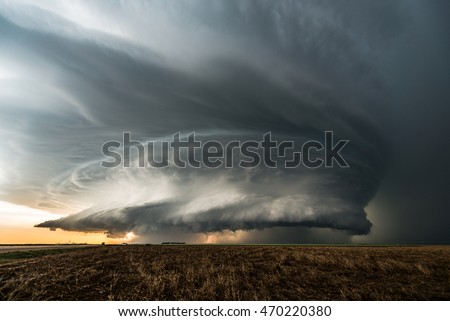 A fantastic super-cell storm in Kansas, USA. The structure was mind-blowing, but the wind and rain were so strong, it made taking photos of this storm very difficult.