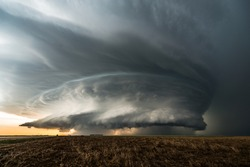 A fantastic supercell storm in Kansas, USA. The structure was mind-blowing, but the wind and rain were so strong, it made taking photos of this storm very difficult.