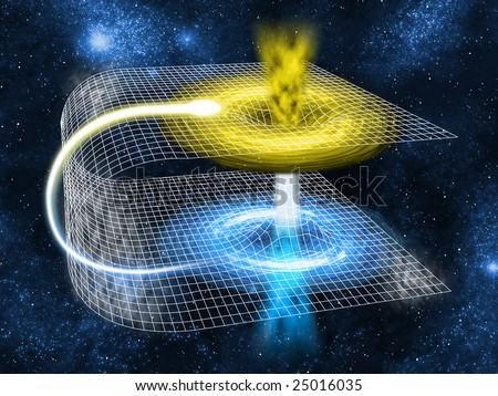 A feature of spacetime that can be viewed as a 2D surface, and when 'folded' over, a wormhole bridge would formed with at least two mouths which are connected to a single throat or tube.