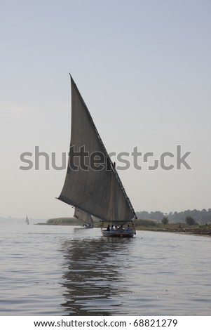 A Felucca Boat on the river Nile in Egypt