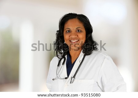 A female doctor set in her office