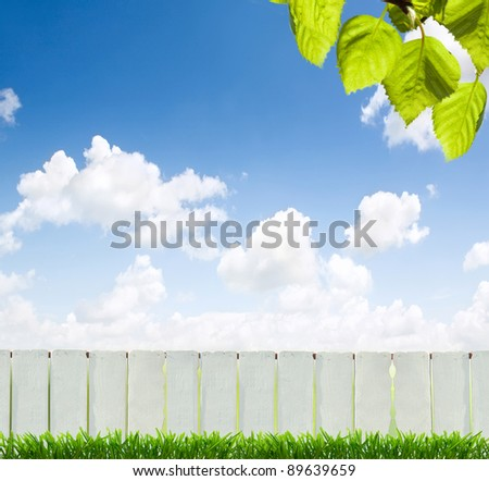 A fence is a freestanding structure designed to restrict or prevent movement across a boundary.