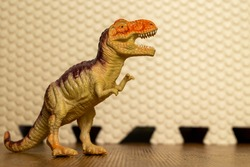 A ferocious and terrifying carnivorous dinosaur model.