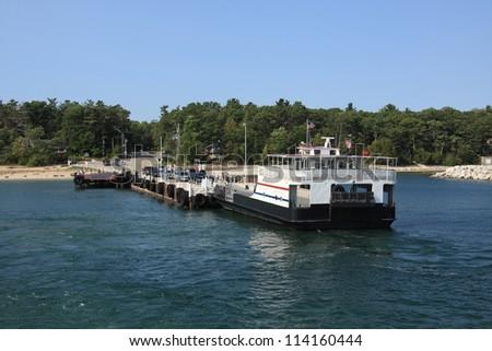 A ferry in Door County in Wisconsin