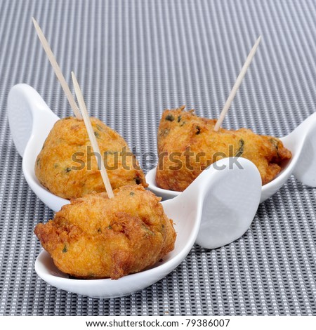 a few cod fritters served as spanish tapas