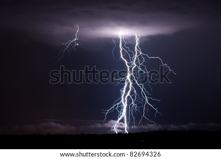 A few elevated thunderstorms put down a few close and powerful shots of lightning.