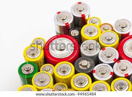 a few used batteries