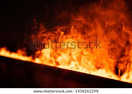 A fiery blaze of smoke #1458262298