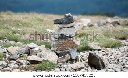 A figure of stones resembling a pavian Photo stock ©