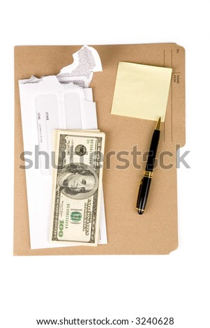 a file folder and mail, business concept
