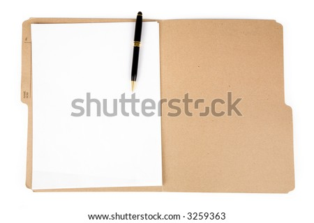 a file folder and pen, business concept