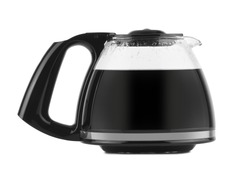 a filled coffee pot isolated against a white background