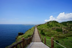 a fine walkway at a seaside cliff