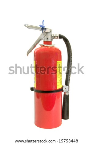 A fire extinguisher isolated against a white background.