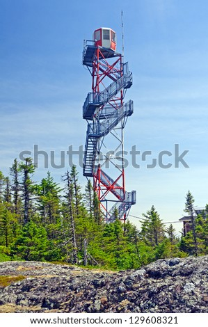 A Fire tower in Terra Nova National Park in Newfoundland