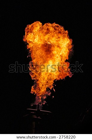 A fireball out of a balloon-burner.