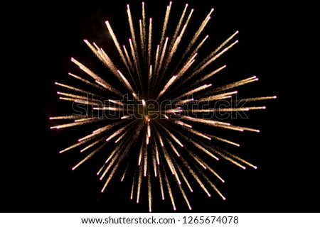 Stock Photo A fireworks with beautiful abstract shapes.Can be the best background for any artwork