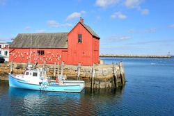 A fisherman's shack on Bradley Wharf in the harbor of Rockport, Massachusetts, USA, is one of the most famous buildings in the world, recognizable to students of art and art history as Motif Number 1.