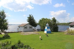 A fishing lodge on the North shore of Lake Huron Canada