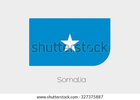 A Flag Illustration of Somalia #327375887
