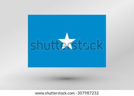 A Flag Illustration of the country of  Somalia #307987232