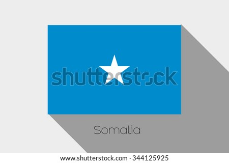 A Flag Illustration with Shadow of Somalia #344125925