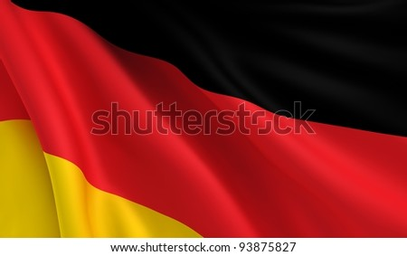 A flag of Germany in the wind