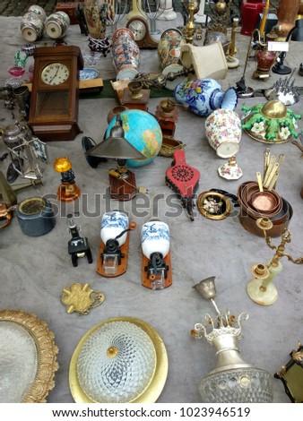 A flea market in Brussels, Bruxelles, Belgium #1023946519