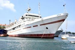 A floating hospital ship in the bay of Sevastopol