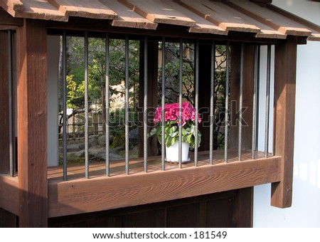 A flower and a window simple japanese style of beauty for Japanese style windows