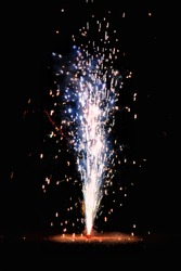 A Flower Pot fire cracker, also known as Anar, is mostly burnt on the night of Diwali releasing a spectacular outburst of sparkles upwards