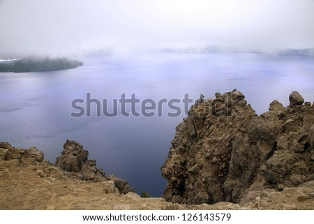 A fog view of crater lake
