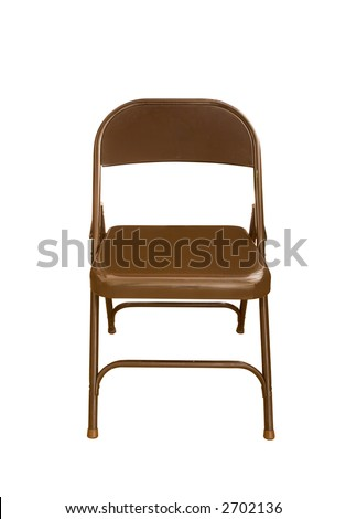 A folding chair isolated on white