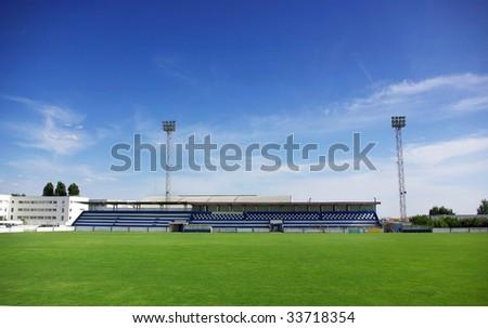 A football stadium.