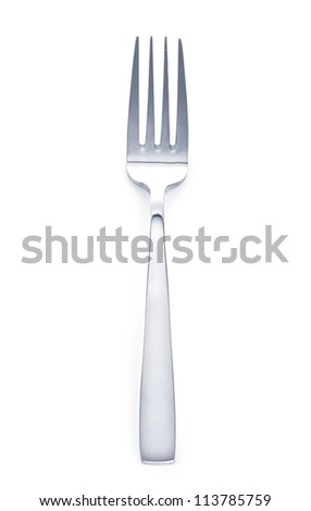 a fork on a white background close up