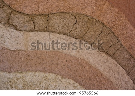 a form of soil layers,its colour and textures