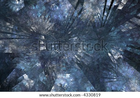 a fractal rendering with looks like frost on a window or ice