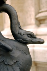 A fragment of a sculpture in Vienna