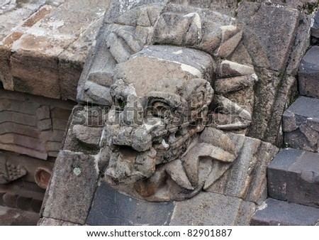 A fragment of the ruins of Teotihuacan - Mexico
