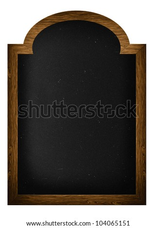 A frame blackboard with clipping path