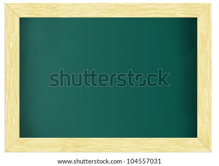 A frame chalkboard, blackboard with clipping path - stock photo