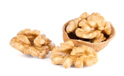 a frash Walnuts isolated on white background